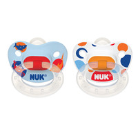 NUK Nature BPA Free 6+ Month Silicone Pacifier 2 Pack - Boy