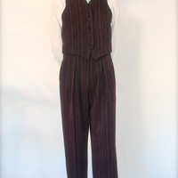 1940's mens pants, 1930's high waisted swing trousers, made to order retro pants, pinstripe vintage style suit