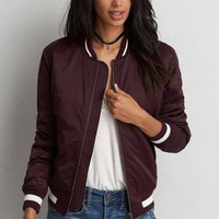 AE Classic Bomber red S