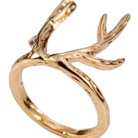 Golden Elk Earring