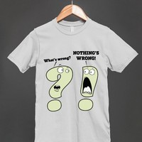 Punctuation Humor - Question Mark & Exclamation Mark - Funny T Shirt - Other styles and colors available