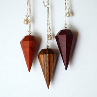 Zebrawood diamond necklace - Light version -  Sterling and wood necklace