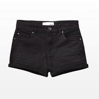BLACK RETRO HIGH WAIST SHORTS