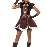 Tween/Teen Costumes Steampunk Girl (X-Large,Burgundy/Brown)