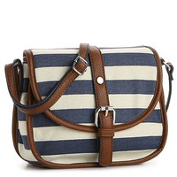 Kelly & Katie Canvas Stripe Cross Body Bag