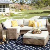 Torrey All-Weather Wicker Sectional - Natural