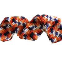 WINTER CLEARANCE !! BLUE AND ORANGE SCARF