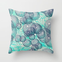Cosmos... Throw Pillow by Lisa Argyropoulos