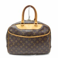 Authentic Louis Vuitton Hand Bag Deauville M47270 Browns Monogram 28265