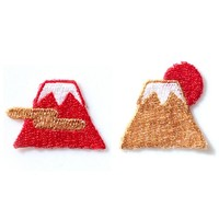 Patch Mt. Fuji - Red (Rayon 100%)