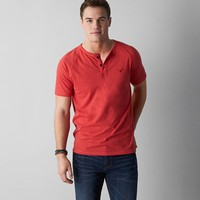 AEO Legend Henley, Red Beam | American Eagle Outfitters