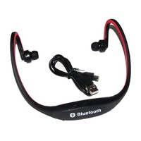 Iwoo Sports Wireless Bluetooth Headset Headphone Earphone for Cell Phone Iphone Laptop Pc(red)
