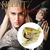 Hobbit Thranduil Snake Ring Mirkwood elf king golden ring Legolas father lord of rings LOTR Lee Pace The Desolation of Smaug