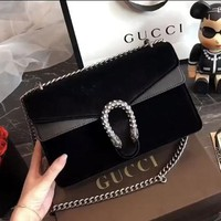 GUCCI Dionysus velvet small shoulder bag
