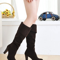 Hot Fashion Women's Elegant Suede Over the Knee Thigh Stretchy High Heels Over the Knee Shoes = 1958266628