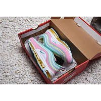 Theshoegame X Nike Air Max 97 Corduroy Pink Women's Sport Running Shoes