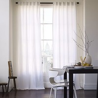 Cotton Canvas Grommet Curtain - White