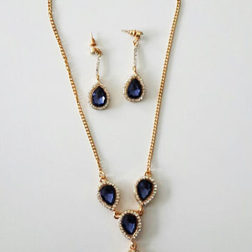 Swarovski Necklace and Earrings Set