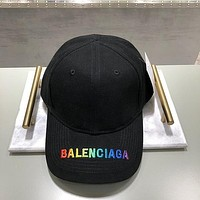 Balenciaga Unisex Personality Multicolor Letter Embroidery Baseball Cap Couple Peaked Cap Sun Hat