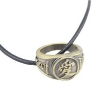Naruto Gaara's Love Symbol ring Metal Charm Necklace pendant