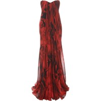 Petal Chiffon Draped Bustier Gown Alexander McQueen | Long Dress | Dresses |