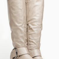 Bamboo Taupe Knee High Belted Rider Boot
