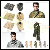 Outdoor Tactical Military Hunting Paintball scarves veil face mesh neckerchief army camouflage fish net towel sniper cover head scarf