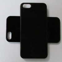 DIY Black Hard Snap-on Cover Case for Apple Iphone 5 --- By Pixiheart