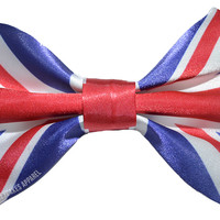 Union Jack Flag Hair Bow