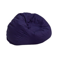 Small Solid Navy Blue Kids Bean Bag