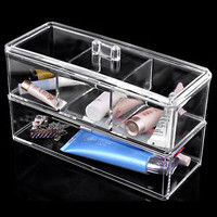 Acrylic Clear 4 Drawer Makeup Organizer Box Display Holder Cosmetic Jewelry Case