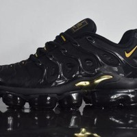 "PEAP 2018 Nike Air Max Plus TN VM ""Black&Gold"" Vapormax Vapor Max Men Fashion Running Sneakers Sport Shoes"
