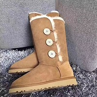 UGG Women Fashion Wool Snow Boots Calfskin Shoes-21