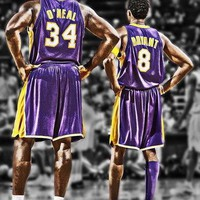 kobe bryant and shaq poster  number 1