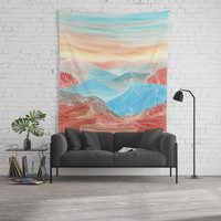Lines in the mountains XX Wall Tapestry by Viviana Gonzalez