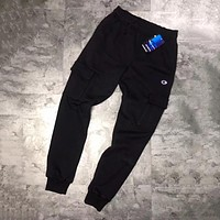 Champion Woman Men Fashion Pocket Pants Trousers