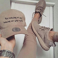 Tagre Fashion Adidas Yeezy Boost Solid color Leisure Sports shoes
