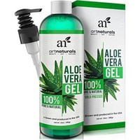 Art Naturals Aloe Vera Gel for Face, Hair & Body - Certified Organic, 100% Pure Natural & Cold Pressed 12 Oz - For Sun Burn, Eczema, Bug or Insect Bites, Dry Damaged Aging skin, Razor Bumps and Acne - Walmart.com