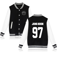 KPOP Bangtan Boys BTS JUNG KOOK 97 Baseball Jacket Coat