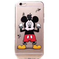 """Apple iPhone 6 Disney's Mickey Mouse clear case iPhone 6 (4.7"""")"""