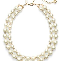 kate spade new york 'pearls of wisdom' double strand faux pearl necklace | Nordstrom