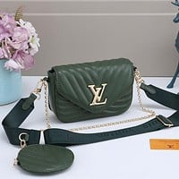 LV Louis Vuitton Two-Piece Set Classic Mini Coin Purse Chain Bag Ladies One Shoulder Messenger Bag