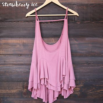 Uneven Hem Acid Wash Open Back Women's Tank in More Colors