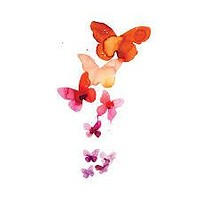 Tattly Temporary Tattoos | Coral Butterflies
