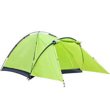 Tril Lion 2-3 Person Dome Camping Tent for Hiking, Backpacking, Garden and Picnics Green