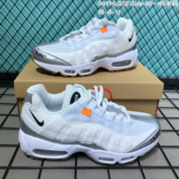 DCCK2 N265 Off White Nike Air Max 95 Casual Running Shoes White Sliver