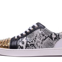Cl Christian Louboutin Low Style Sneakers Fashion Shoes