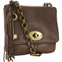 Fossil Quinn Flap Taupe - 6pm.com