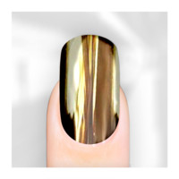 Rebel Nails Nail Wraps - Bright Mirror Gold for Fingers
