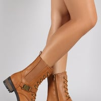 Bamboo Pinch Buckle Gore Combat Boot